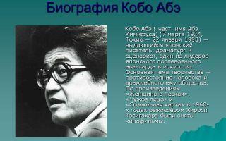 Краткая биография абэ
