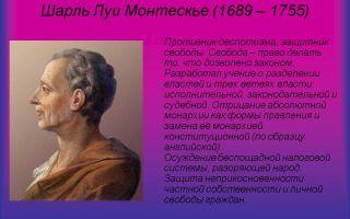 Краткая биография монтескьё
