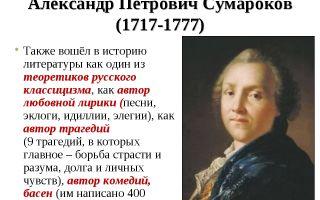 Краткая биография сумароков