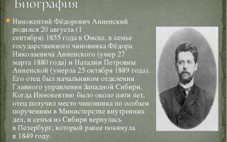 Краткая биография анненский