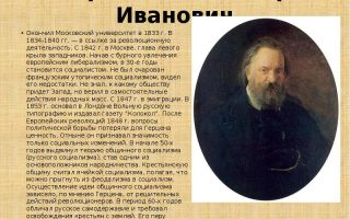 Краткая биография герцен