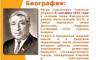 Краткая биография гамзатов