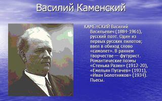 Краткая биография каменский