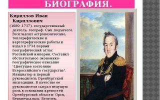 Краткая биография кириллов