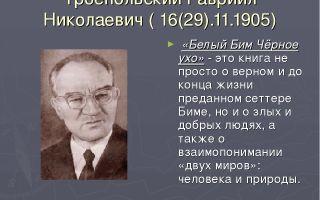 Краткая биография троепольский