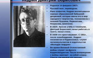 Краткая биография кедрин