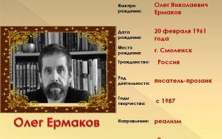 Краткая биография ермаков