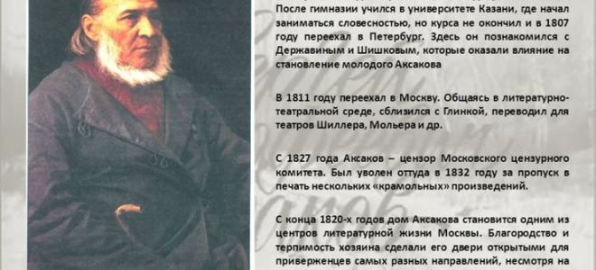Краткая биография аксаков