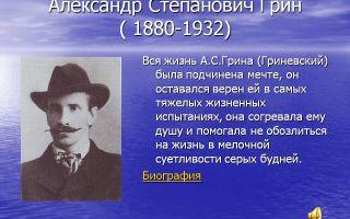 Сочинения об авторе грин а. с.