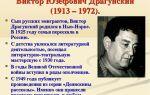 Краткая биография драгунский