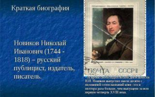 Краткая биография новиков