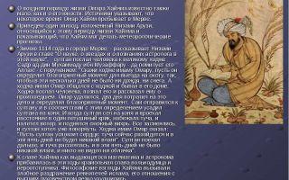 Сочинения об авторе хайям