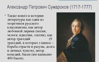 Сочинения об авторе сумароков