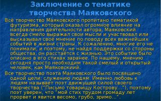 Сочинения об авторе маяковский
