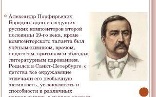Краткая биография бородин