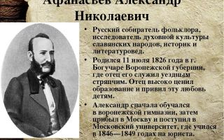 Краткая биография афанасьев