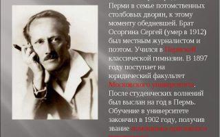Краткая биография осоргин