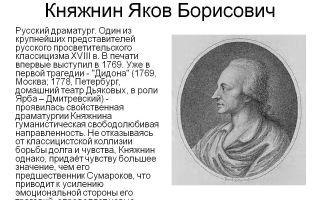 Краткая биография княжнин