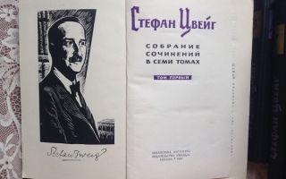 Сочинения об авторе цвейг