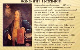 Краткая биография голицын