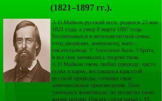 Краткая биография майков