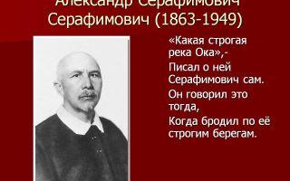 Краткая биография серафимович