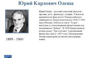 Краткая биография олеша