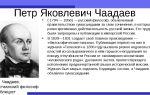 Краткая биография чаадаев