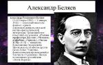Краткая биография беляев а. р.