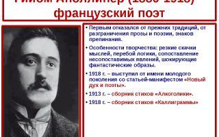 Краткая биография аполлинер