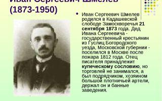 Краткая биография шмелёв