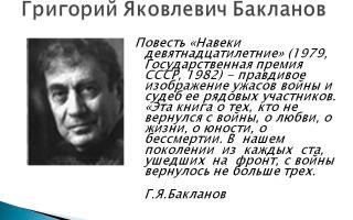 Краткая биография бакланов