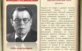 Сочинения об авторе исаковский