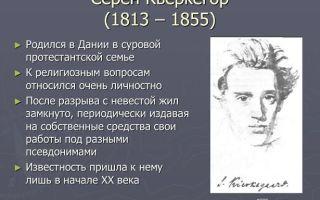 Краткая биография кьеркегор