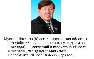 Сочинения об авторе шаханов