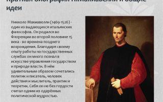 Краткая биография макиавелли