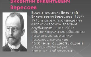 Краткая биография вересаев