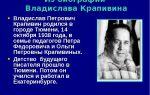 Краткая биография крапивин
