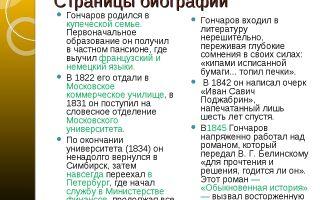 Краткая биография гончаров