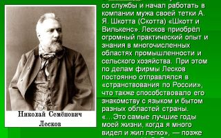 Краткая биография лесков